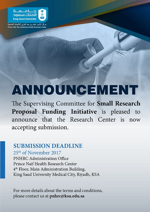 small research project initiative proposal
